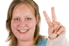 Victory sign Stock Photography