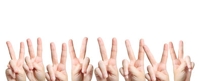 Victory sign Royalty Free Stock Photo