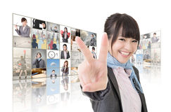 Victory sign Stock Photo