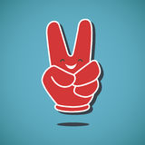 Victory sign. EPS 10 file Stock Image