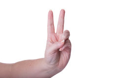 Victory Sign Stock Image