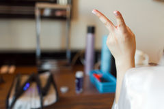 Victory sign Royalty Free Stock Image