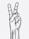 The Victory sign, hand gesture Stock Photos