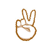 Victory Sign Peace Hand Gesture People Emotion Icon. Vector Illustration Royalty Free Stock Photos