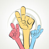Victory sign stock  Royalty Free Stock Photo