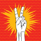 The Victory sign Royalty Free Stock Image