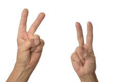 Victory signs two Royalty Free Stock Images