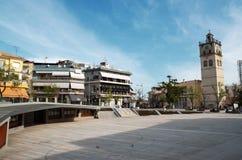Victory Square är den centrala fyrkanten i Kozani, Grekland Fotografering för Bildbyråer