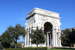 Victory Square and the Arc of Triumph. Liguria, Italy Royalty Free Stock Image