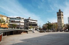Victory Square is the central square in Kozani, Greece Stock Image