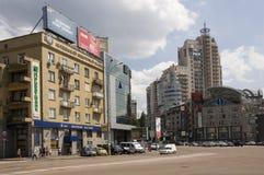 Victory Square em Kiev verão Fotografia de Stock