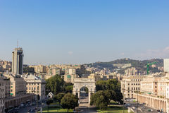 Victory square in Genoa Royalty Free Stock Photo
