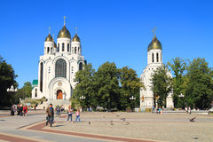 Victory Square in Kaliningrad in the sunny summer day Royalty Free Stock Image