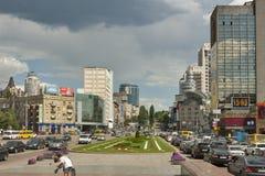Victory Square in Kiev, Ukraine Royalty Free Stock Photo