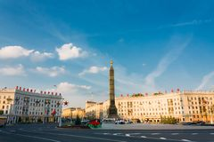 Victory square in Minsk, Belarus Stock Images