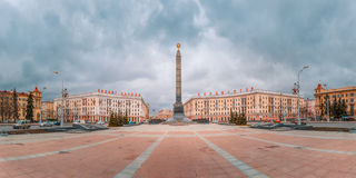 Victory Square in Minsk, Belarus Royalty Free Stock Photo
