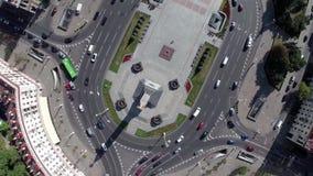 Victory Square, Minsk - Bielorussia, prospettiva di indipendenza archivi video