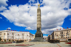 Victory Square, Minsk, Wit-Rusland, stock fotografie