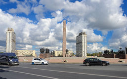 Victory Square in St. Petersburg Stock Photos