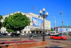 Victory Square, Stad Hall Kaliningrad Royalty-vrije Stock Afbeelding