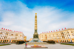 Victory Square - Symbol Belarusian Capital, Minsk Stock Photo