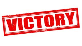 Victory. Stamp with word victory inside,  illustration Royalty Free Stock Photo