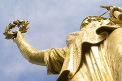 Victory Statue. On the top of the Siegesaule in Berlin Royalty Free Stock Photography