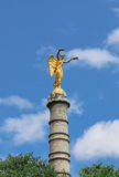The Victory statue on the column Royalty Free Stock Photography
