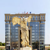 Victory statue of Samothrace under the sun in Montpellier Royalty Free Stock Images