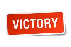 victory sticker Royalty Free Stock Photography