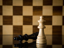 Victory or success. With white king in chess Royalty Free Stock Image