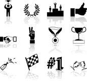 Victory and Success Icon Set Series Design Elements Royalty Free Stock Photos