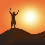 Victory at Sunset Royalty Free Stock Photo