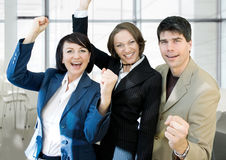 Victory team Royalty Free Stock Image