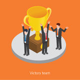 Victory team concept design 3d isometric  illustration Royalty Free Stock Images