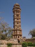 Victory tower in Chittorgarh ruins in Rajasthan Stock Images