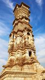 Victory tower.Cittorgarh Fort, India Stock Image