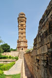 Victory tower. Inside chittorgarh fort in rajasthan India Royalty Free Stock Image