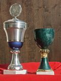 Victory trophies in sports Stock Photo
