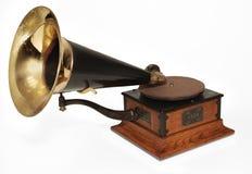 Victrola phonograph. Vintage 1929 Victrola phonograph on white background
