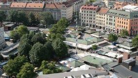 Victualienmarkt Munich, Tyskland arkivfilmer