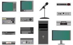 Vidéo éditant l'équipement Photos libres de droits