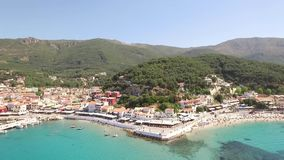 Vidéo aérienne de Parga, Grèce banque de vidéos
