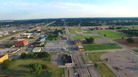 Vidéo aérienne de Ville d'Oklahoma banque de vidéos