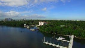 Vidéo aérienne de Vizcaya Miami 2 banque de vidéos