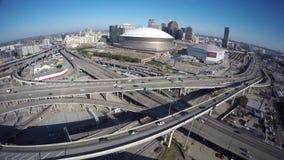 Vidéo aérienne la Nouvelle-Orléans du centre banque de vidéos