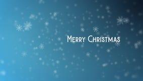 Vidéo animée des flocons de neige de Noël banque de vidéos