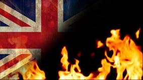 Vidéo brûlante de flammes banque de vidéos