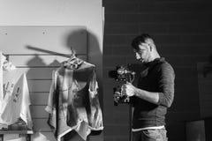 Vidéo commerciale des coulisses de reportage pour l'académie de SF Photo stock