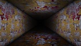 Vidéo criquée de boucle de couloir illustration stock